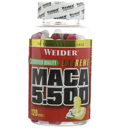 Weider Nutrition MACA 5500 - Pack of 120 Capsules by Weider