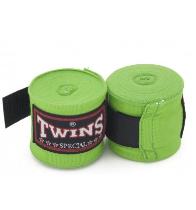 Twins Special Muay Thai algodón color sólido vendas color verde claro