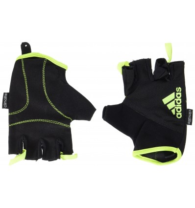 Adidas Essential ADGB-12322WH, Guantes de fitness, Amarillo/negro(Frozen Yellow), M
